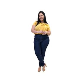Calça Jeans Roupas Femininas Plus Size Com Lycra Do 46 Ao 60