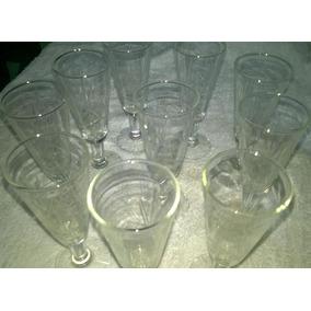 Copas De Cristal Tallado De Jerez Liquido