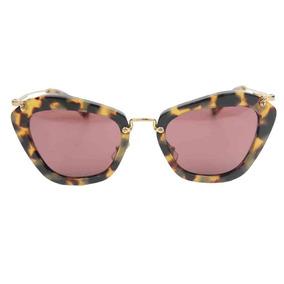 922e82189d1c3 Miu Miu Renoir Tartaruga Fosco - Óculos no Mercado Livre Brasil