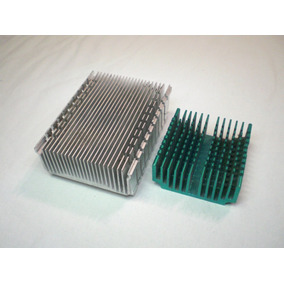 2 Placas Dissipador De Calor Em Alumínio Anodizado Azul