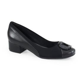 350a4e4bc Peep Toe Preto Feminino Comfortflex - Calçados