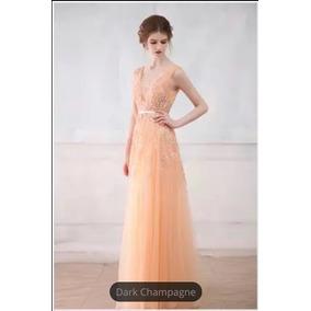 Vestido Largo De Tul Con Encaje Red Carpet