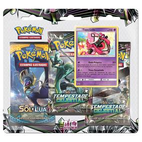 Jogo Pokémon - Triple Deck - Sol E Lua - Tempestade Celestia