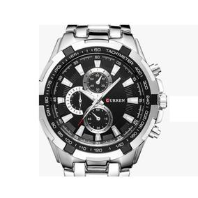 Relógio Masculino Preto Aço Inox Frete Grátis+ Super Brinde