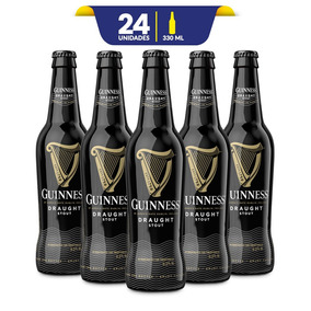Cerveza Guinness Draught Botella De 24 Pack 330ml C/u