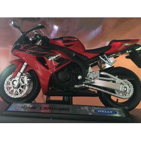 Miniatura Moto Cbr 1000 1/18 Vermelha