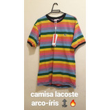 Camisa Lacoste Arco-íris Primeira Linha - Cor Única, G 6420ec2557