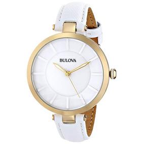 Relógio Bulova Feminino Branco - 97l140 100% Original