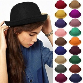 Sombrero Bombin Mujer Para Pelo Y Cabeza Sombreros - Accesorios de ... 83a17ff3dfc7