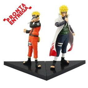 Acion Figure Naruto Uzumaki + Minato Hokage Pronta Entrega