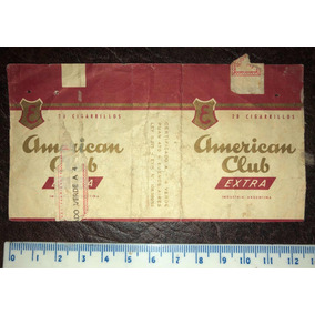 Antigua Marquilla De Papel Cigarrillos American Club