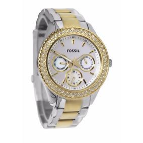 ab3b8fa48a227 Relógio Fossil Prata Com Rose Feminino De Luxo - Relógios no Mercado ...