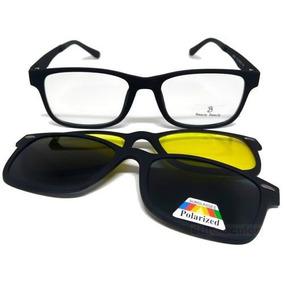 Armação Óculos Grau Sol E Noite Polarizado 6 Em 1 Clip On - Óculos ... 95d66ca219