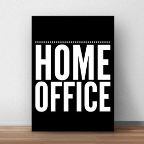 Placa Decorativa Home Office 20x30
