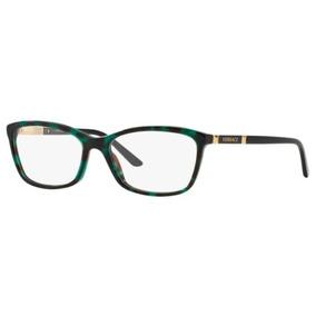 Armação Oculos Grau Versace Ve3186 5076 54 Verde Havana 9a602cd531