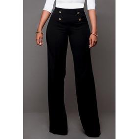 Sexy Pantalon Cadera Botones Al Frente Elegante Oficina Gala