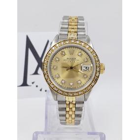 Reloj Rolex Dama Automatico Diamantes Lady Datejust 18k Amx