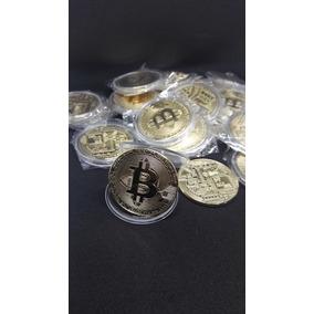 Kit Com 10 Moedas Fisicas Bitcoin Alto Relevo/colecionador