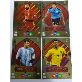 Lote 4 Limiteds Copa 2018 Cavani Messi Pique Jesus Panini
