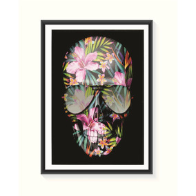 Pôster Caveira Floral - Grande