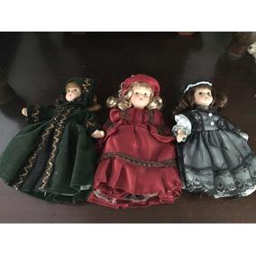Bonecas Vitorianas De Porcelana Knightsbridge Dolls 15cm