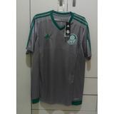 Camisa adidas Palmeiras Prateada 2015/16 Original