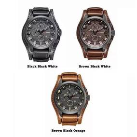2 Relógio Bracelete Masculino Curren Social Luxuoso Mod 8225