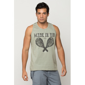 Regata Camiseta Masculina Básica Malha Original Barata Rio b53e5e7c229