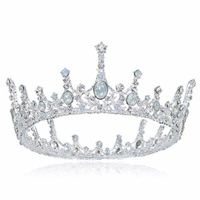 Ssnuoy Bridal Crown Rhinestone Crystal Crown Dress-up Tiaras