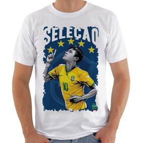 bdb5ff8f34 Camiseta Masculina - Seleção Copa 2018 Neymar