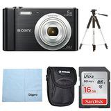 Sony W800/b Dsc-w800/b Dscw800b 20 Mp Digital Camera 5x Opti