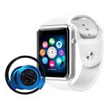 Relógio Celular Inteligente + Fone Sem Fio Bluetooth