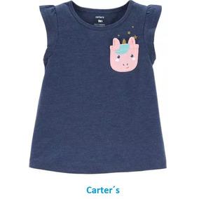 Franela Camisa Unicornio Niña Original Carters Bebe 9 Meses a0cf386fccb5