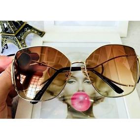 Óculos Escuros Sol Feminino Espelhado Metal Rosa Gatogatinho ecd92931b2