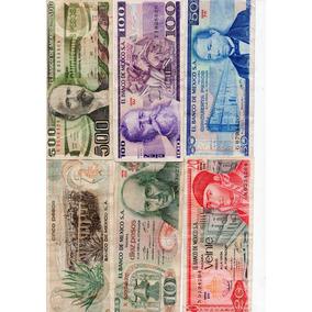 Billetes Antiguo México 1970-80s Monedas S3
