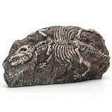 Yani Peixe Tank Ornamento Aquário Dinossauro Resina Fóssil C