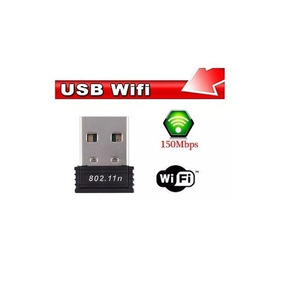 Mini Wifi Antena Usb Adaptador De Red 150mbps