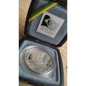 Moeda Comemorativa Prata R$ 2 Banco Central Ayrton Senna