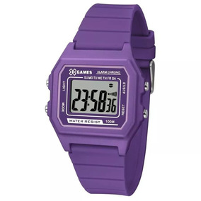 Relógio X Games Xtyle Feminino Digital Xlppd030 Roxo