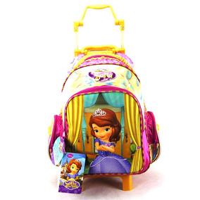 Mochila De Rodinha Princesinha Sofia Disney Junior Ref 49095