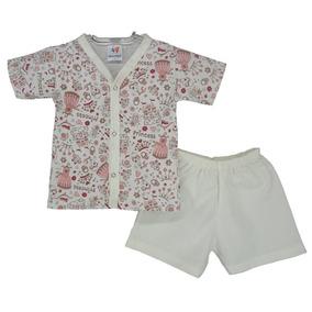 Kit 4 Pijama Bebê Infantil Curto Atacado Menino E Menina