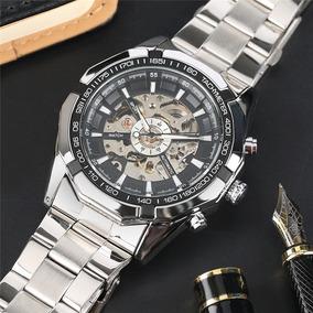 Reloj Original Mecanico Automático + Pulsera De Cuero