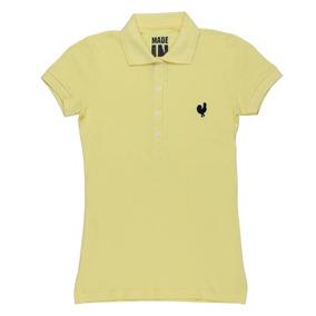 1814775488832 Camisa Polo Made In Mato Original Feminina Amarela 23977
