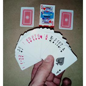 Mini Jogo De Baralho Poker 54 Cartas Truco Verm.