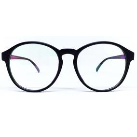 Armação Para Óculos De Grau Redonda Vintage - Preto Fosco 796ed73937