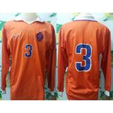 Camisa Oficial Futebol De Jogo Holanda   3 Manga Longa 1997 e8a7ee4571699