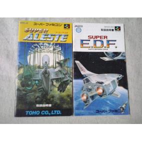 Manual Jogo Famicon Super Alest Super Edf