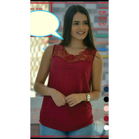 Blusa Regata Detalhe Laco Modelo - Camisetas e Blusas no Mercado ... b89460e7899