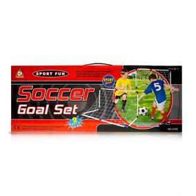 Mini Set De Futbol Con 2 Arcos Inflador Y Pelota Ck