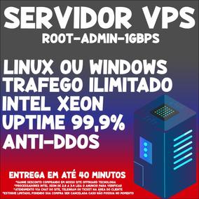 Servidor Vps Xeon Kvm 3gb Ram 350gb 1gbps -windows/linux/ssh